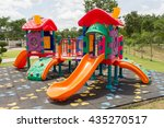 playground equipment in the park | Shutterstock . vector #435270517
