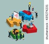 step of success business info... | Shutterstock .eps vector #435274231