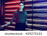 high fashion portrait of young... | Shutterstock . vector #435275131