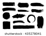 set of hand drawn brushes and... | Shutterstock .eps vector #435278041