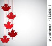 hanging maple leaf canada day... | Shutterstock .eps vector #435280849