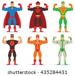 vector set of cartoon images of ... | Shutterstock .eps vector #435284431