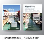 business brochure flyer design... | Shutterstock .eps vector #435285484
