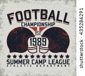 vintage typography emblem ... | Shutterstock .eps vector #435286291