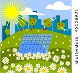 solar panel in nature | Shutterstock .eps vector #43528921