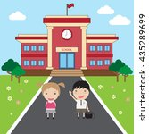 go to school back to school | Shutterstock .eps vector #435289699