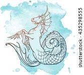 hippocampus greek mythological... | Shutterstock .eps vector #435298555