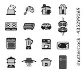 kitchen electric appliances ... | Shutterstock .eps vector #435299269