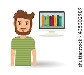 education design. university... | Shutterstock .eps vector #435302989