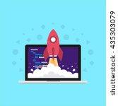 turbo  rocket  super developer... | Shutterstock .eps vector #435303079