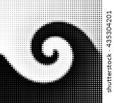 black and white halftone spiral ... | Shutterstock . vector #435304201