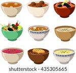 vector illustration of various...   Shutterstock .eps vector #435305665
