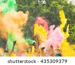 crowd of people on color run...   Shutterstock . vector #435309379