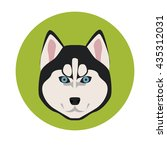 dog muzzle color icon | Shutterstock .eps vector #435312031
