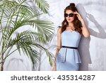 beautiful sexy woman wear... | Shutterstock . vector #435314287
