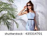 sexy beautiful woman luxury... | Shutterstock . vector #435314701