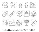 medicine  pregnancy and... | Shutterstock .eps vector #435315367