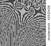 abstract black and white vector ... | Shutterstock .eps vector #43532428