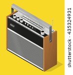 old vintage radio   highly... | Shutterstock .eps vector #435324931
