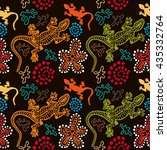 boho style seamless pattern...   Shutterstock . vector #435332764