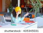 woman engineer working on...   Shutterstock . vector #435345031
