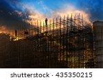 construction worker on... | Shutterstock . vector #435350215