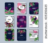 vibrant set of tropical... | Shutterstock .eps vector #435350635