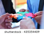 group of business people... | Shutterstock . vector #435354409
