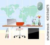 illustration of flat modern... | Shutterstock .eps vector #435356875