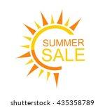 summer sale concept | Shutterstock .eps vector #435358789