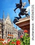 famous munich city hall at the marienplatz - germany - bavaria - stock photo