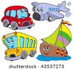 various cartoon vehicles  ... | Shutterstock .eps vector #43537273
