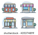 set of vector flat line icon... | Shutterstock .eps vector #435374899