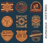 set of vintage typography  t... | Shutterstock .eps vector #435378001