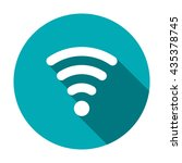 wifi icon  isolated vector flat ... | Shutterstock .eps vector #435378745