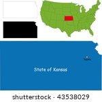 state of kansas  usa | Shutterstock .eps vector #43538029