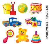 set of vector icons of children'... | Shutterstock .eps vector #43538128