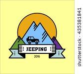 logo jeeping. vector sign... | Shutterstock .eps vector #435381841