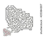 vector maze with answer 1 | Shutterstock .eps vector #435384307
