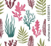 marine plants background.... | Shutterstock .eps vector #435385591