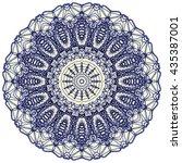 mandala mehndi style. ethnic...   Shutterstock . vector #435387001