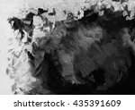 black and white grunge acrylic... | Shutterstock . vector #435391609