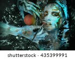 surreal image of a beautiful... | Shutterstock . vector #435399991