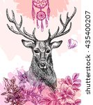 hand drawn deer | Shutterstock .eps vector #435400207