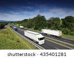truck transportation on the road   Shutterstock . vector #435401281