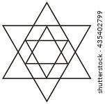 sacred geometry star tetrahedron | Shutterstock .eps vector #435402799