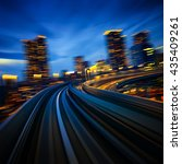 subway motion blur of a city... | Shutterstock . vector #435409261