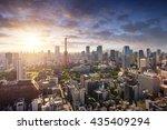 amazing view to tokyo city... | Shutterstock . vector #435409294