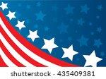 usa flag in style vector   Shutterstock .eps vector #435409381