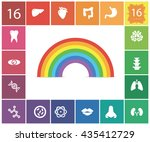 set of organs in the style flat | Shutterstock .eps vector #435412729
